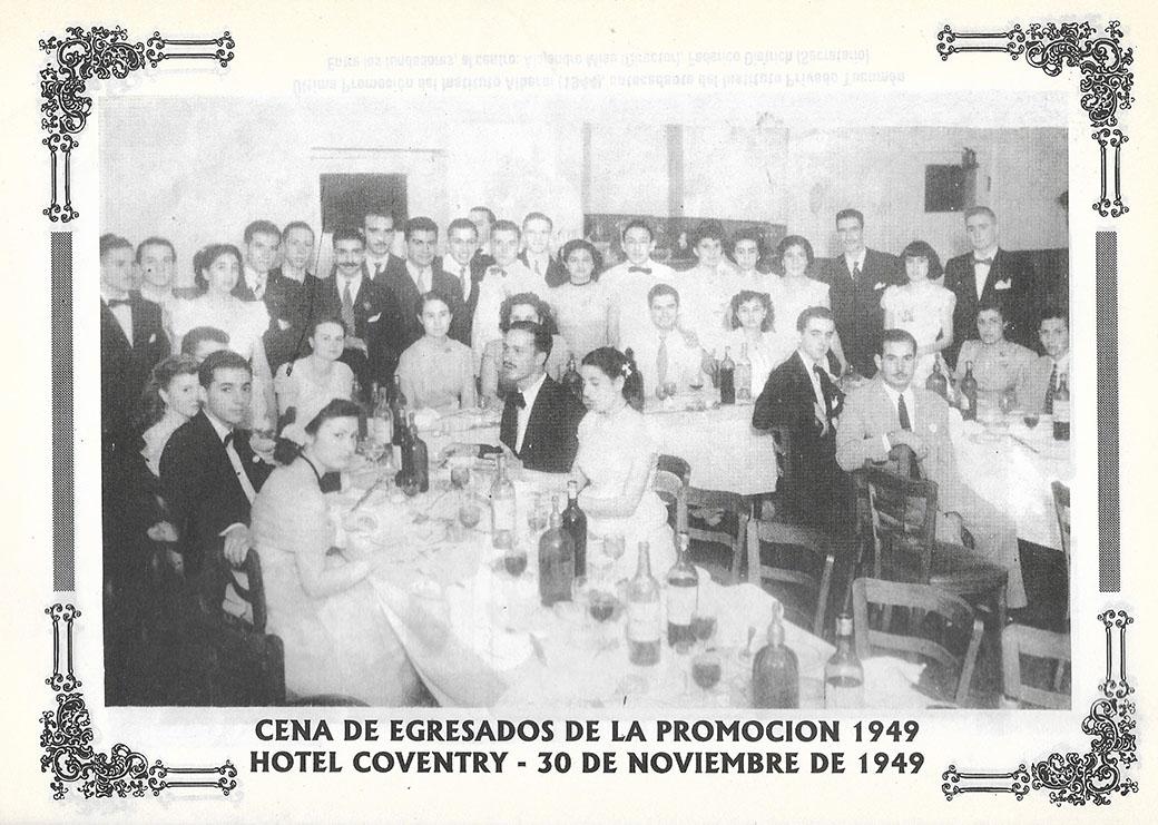 Cena egresados promoción 1949