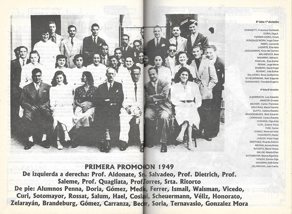 Primera Promoción 1949 Instituto Privado Tucumán